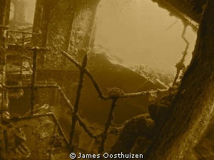Wreck in sepia by James Oosthuizen 
